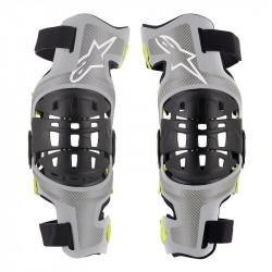 Genouilleres Bionic-7 Alpinestars Silver Yellow fluo M