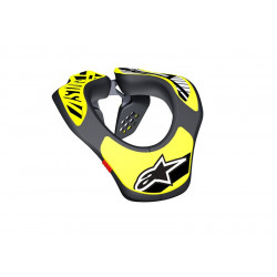 Tour de Cou Enfant Alpinestars Neck Support Noir Yellow Fluo OS