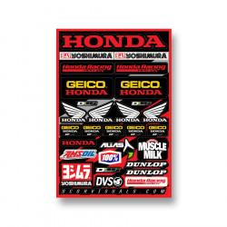 Planche stickers D'cor Team Honda Geico