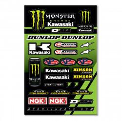 Planche stickers D'cor 17 Team Monster Kawasaki