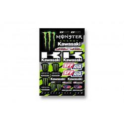 Planche stickers D'cor 18 Team Monster Kawasaki