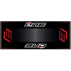 Tapis de sol HURLY Bud Racing Rouge 200x80cm