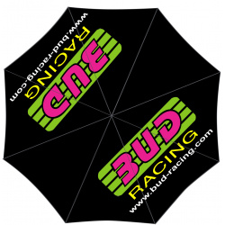 Parapluie Bud racing original logo Pink/green