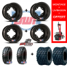 PACK JANTES DWT A5 NOIR + PNEUS DRAG'ON CROSSER 4X110 / 4X144