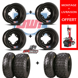 PACK JANTES DWT A5 + PNEUS DRAG'ON CROSSER 4X110 / 4X144