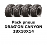 Pack 4 pneus DRAG'ON CANYON 28X10X14