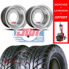PACK JANTES DWT ARRIERE RED LABEL 10X10 4X115 CHHROME ET MAXXIS SPEARZ M992 225X40X10